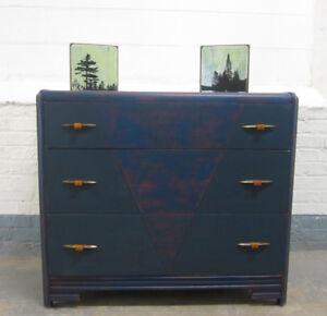 Restyled with chalk furniture paint vintage dresser