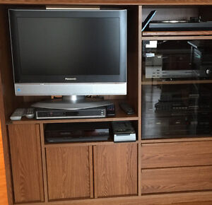 Entertainment Centre Cabinet with multiple components