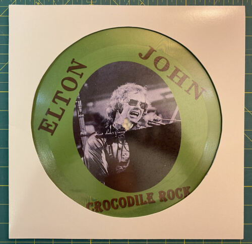 Elton John Crocodile Rock RARE 12-inch 1-sided picture disc