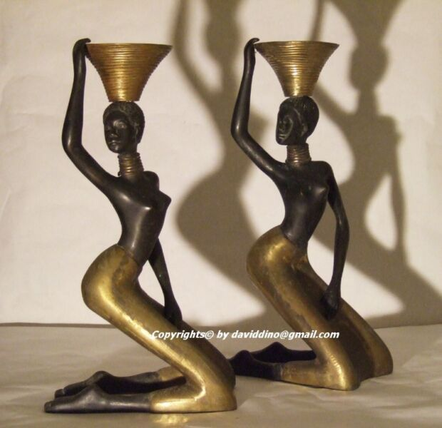 ~~~RaRe UniNiQue AfriCan NDeBeLe DanCers  BraSS  StaTues /CanDLe StanD $888~~~