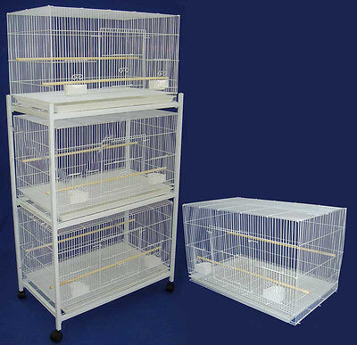 NEW Lot of Large 4 Bird Breeding Breeder Cages 30x18x18 With Stand WTE-358