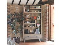 Rowico - Distressed Rustic Reclaimed Wood Tall Display Bookcase rrp £699