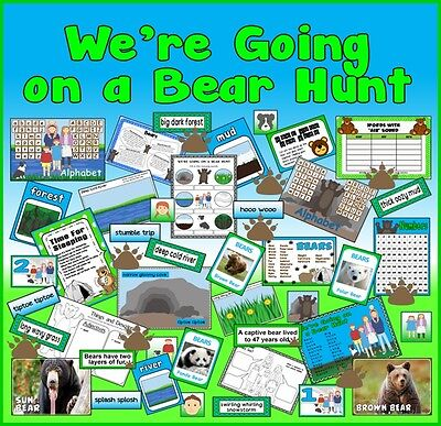 CD WE'RE GOING ON A BEAR HUNT STORY TEACHING RESOURCES SACK EYFS KS1 BOOK READ