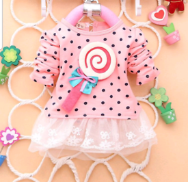 Beautiful pink baby party dress sizes 0 to 3 years