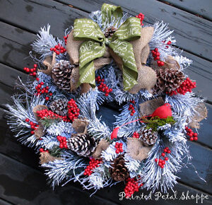 SALE--Woodland Frosted Pine Christmas Wreath/ Holiday Wreath Belleville Belleville Area image 1