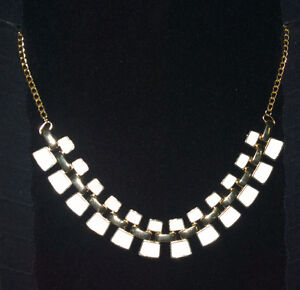 Gold & White Necklace