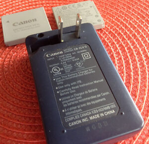 Canon battery recharger and battery(x2) Kingston Kingston Area image 3