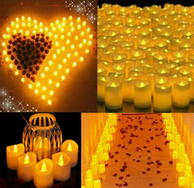 72PCS Flameless Votive Candles Battery Operated Flickering LED Tea Light USA](Battery Tealight)
