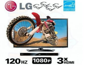 """LG  47"""" Cinema 3D 1080p LED HDTV with Blu-ray Disc Player"""