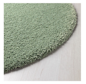 New Ikea ADUM  High Pile Light Green Rug