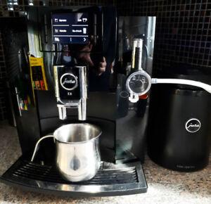 Machine à café Jura et refroidisseur à lait 1 litre