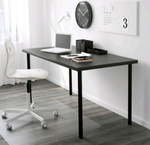 Computer Desk with matching Wall Shelf Black/Brown