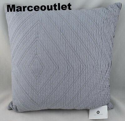 "Hotel Collection Diamond Stripe Embroidered 20"" Square Decorative Pillow Blue"