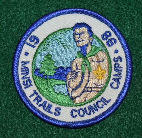 VINTAGE BOY SCOUT 1989 MINSI TRAILS COUNCIL CAMPS PATCH