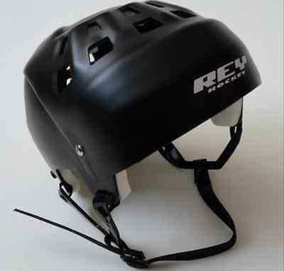 """REY """"JOFA-STYLE"""" STREET HOCKEY HELMET - SENIOR Sz Black (Med/Large) adjustable"""