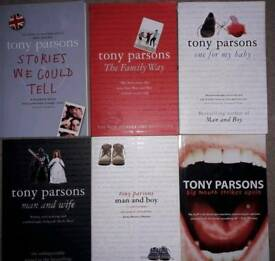 Tony Parsons books 6 for £3!