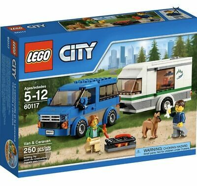 NISB lego city 60117 great vehicles van and caravan ( camping)- Retired set!
