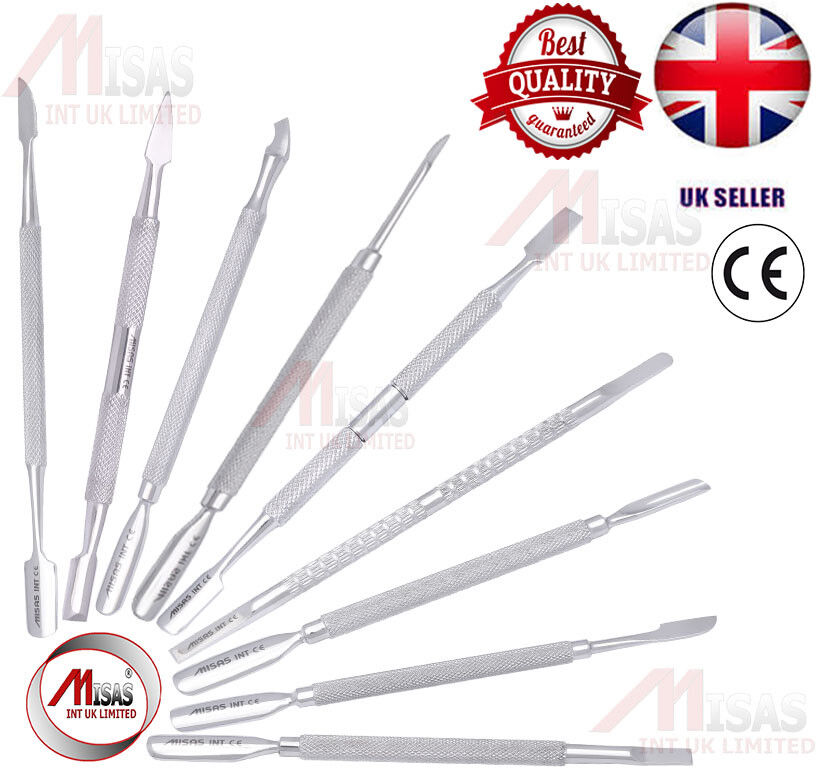 STAINLESS STEEL CUTICLE PUSHER MANICURE NAIL ART REMOVAL TOOL DUAL SC