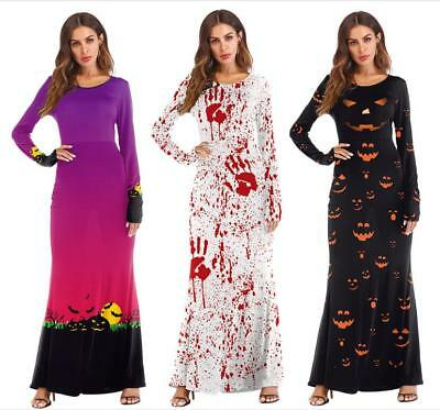 Pumpkin Witch Halloween Costume (Vampire Witch Dress Pumpkin Cosplay Costumes Women Fancy Party Halloween)