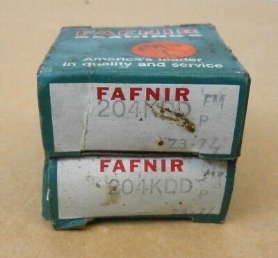 2 Nib Fafnir 204kdd Deep Groove Ball Bearing 20mm X 47mm X 14mm Double Shielded
