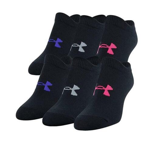 UNDER ARMOUR UA Essential Training Socks 6 Pairs Youth (13.5K-4Y) Women (4-6)