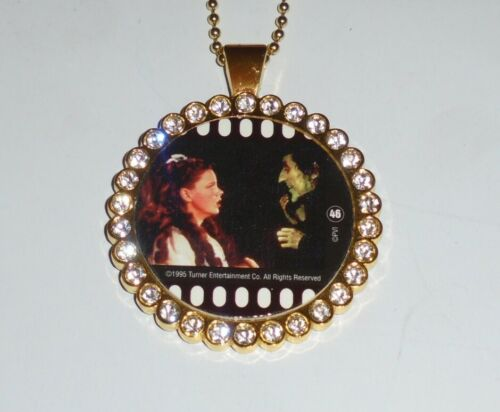 Vintage Wizard Oz Wicked Movie Film Pog Pendant Necklace Dorothy Toto Witch Red
