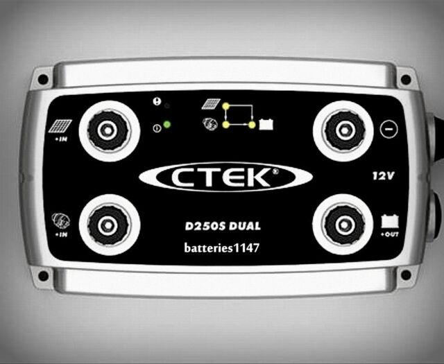 Ctek D250S Dual DC to DC Battery Smart Charger 12 Volt