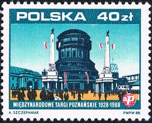 Polska Poland 1988 Fi 3035 Mi 3183 MNH 60 l. Międzynarodowych Targów Poznańskich - <span itemprop=availableAtOrFrom>Pustków, Polska</span> - Polska Poland 1988 Fi 3035 Mi 3183 MNH 60 l. Międzynarodowych Targów Poznańskich - Pustków, Polska