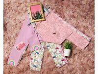 Baby Girls 3 pack Rainbow Print Leggin