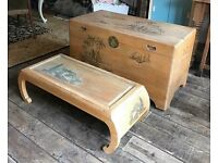 Chinese Coffer Trunk & Coffee Table