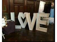 LED 'LOVE' Letters for Hire
