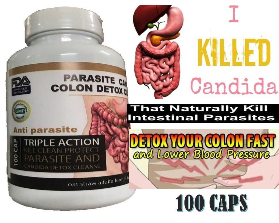 Parasite Cleanse DETOX Liver Colon Yeast Blood KILL Killer vital 100 cap cure XL 1