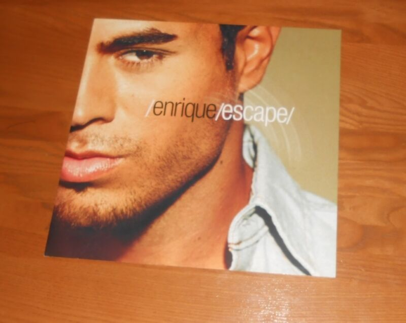 Enrique Iglesias Escape Promo 2001 2-Sided Flat Square Poster 12 x 12
