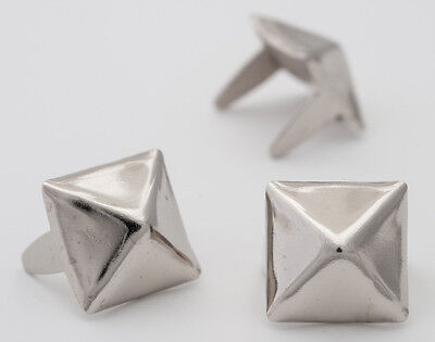 Разное 10mm silver pyramid studs for