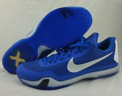 new concept fdfc0 9a8b6 NIKE KOBE X 10 TB BASKETBALL SHOE 813030 402 GAME ROYAL BLUE SILVER MEN S  Sz 18