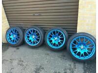 "Bbs ch wheels 5x100 18"" not bbs rs lm rk etc. Vw audi vauxhall fitment"