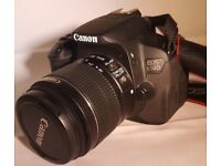Canon EOS 650D Camera Body and 18-55 IS II Lens