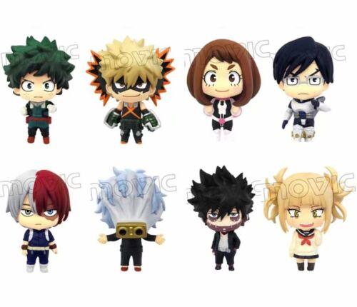 8 Pcs My Hero Academia Boku no Deku Izuku Midoriya & Katsuki Bakugou Figures Set