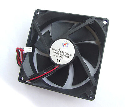 5PCS 12V DC Fans Brushless Cooling DC Fan DC92mm x 92mm x 25mm 2 wire 9025 (12v Dc-fans)