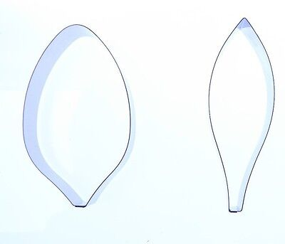 Lily Petal Sugarcraft Cutter set of 2 - Valley Cutter Company- 71x41 and 76x27mm