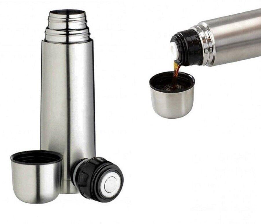 Thermos Termos Termico portatile con tappo a scatto 500 ml in Acciaio Inox