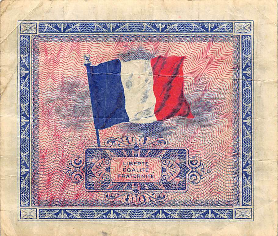 France 10 Francs Serie De 1944 WWII Issue Circulated Banknote WKR - $3.75