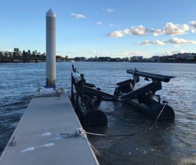 Airberth floating boat dock pontoon air berth