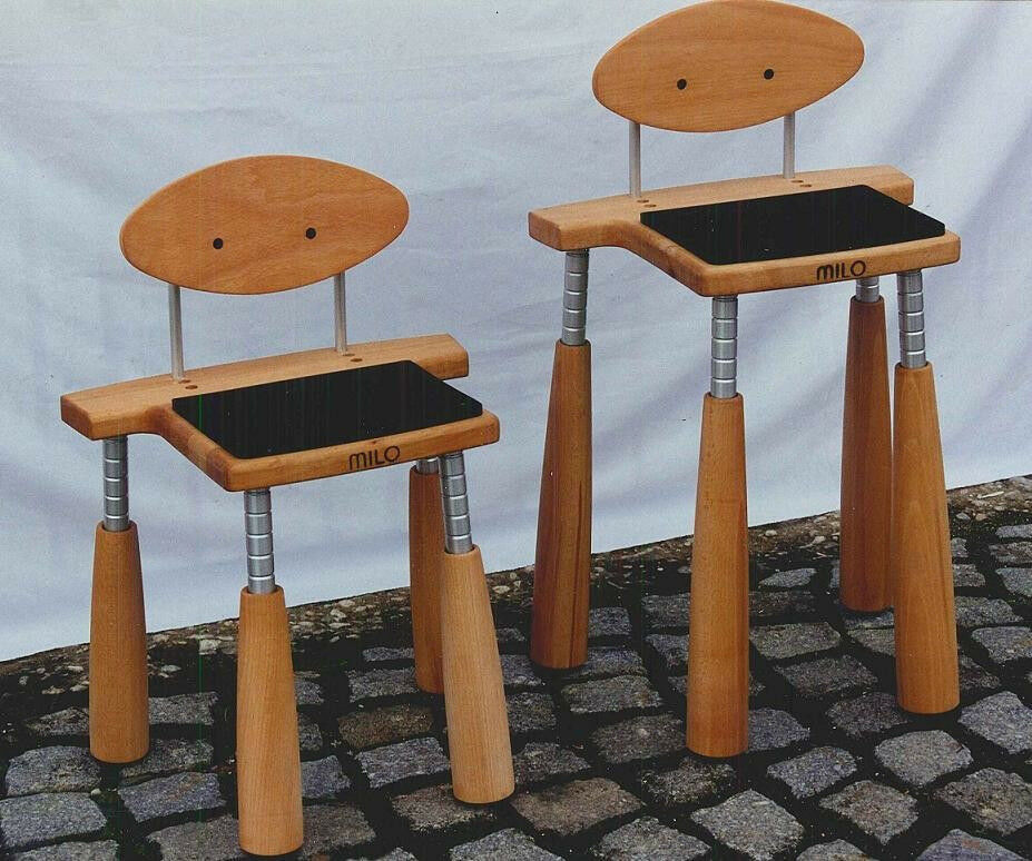 Professional Cello practice stool by Milo with individual adjustable legs