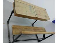 Old twin school desk