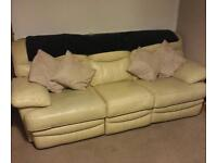 3 seater recliner and 2 seater sofa
