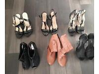 6 pairs of high heeled shoes