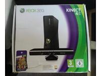 Xbox 360 with kinect sensor and 1 control
