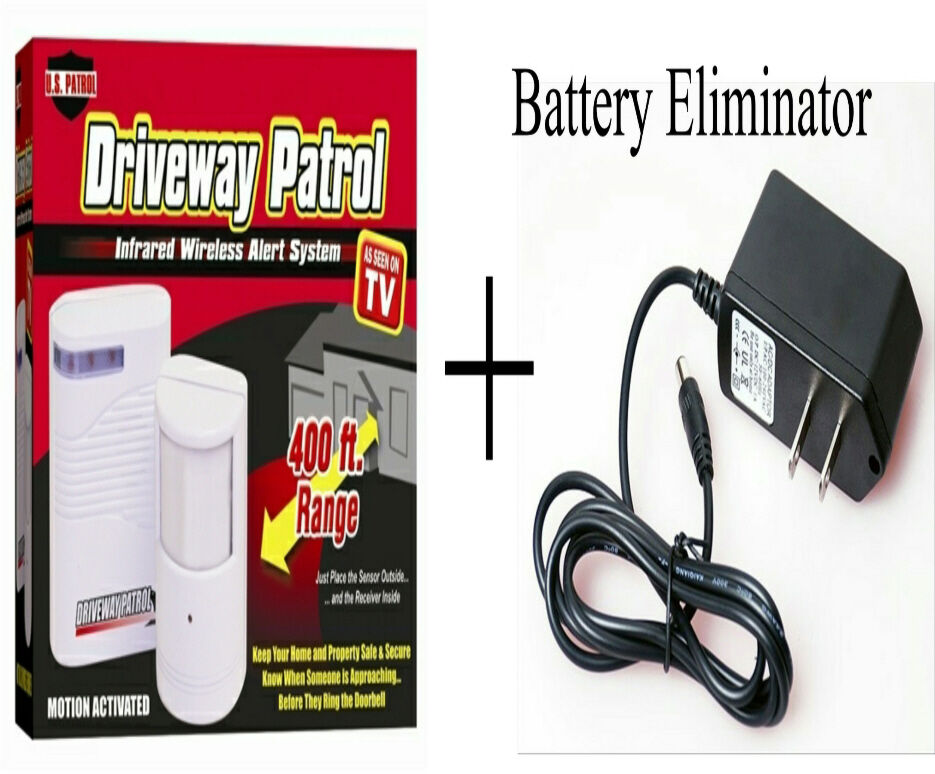 Driveway Patrol & Wall Plug Power Adapter - Wireless Moti...