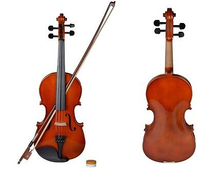 Affordable Acoustic Violin 4/4 Full Size with Case and Bow Rosin Wood Color New